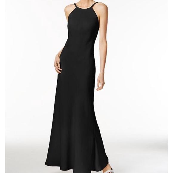 Calvin Klein Dresses | Nwt Black Velvet Evening Gown | Poshmark